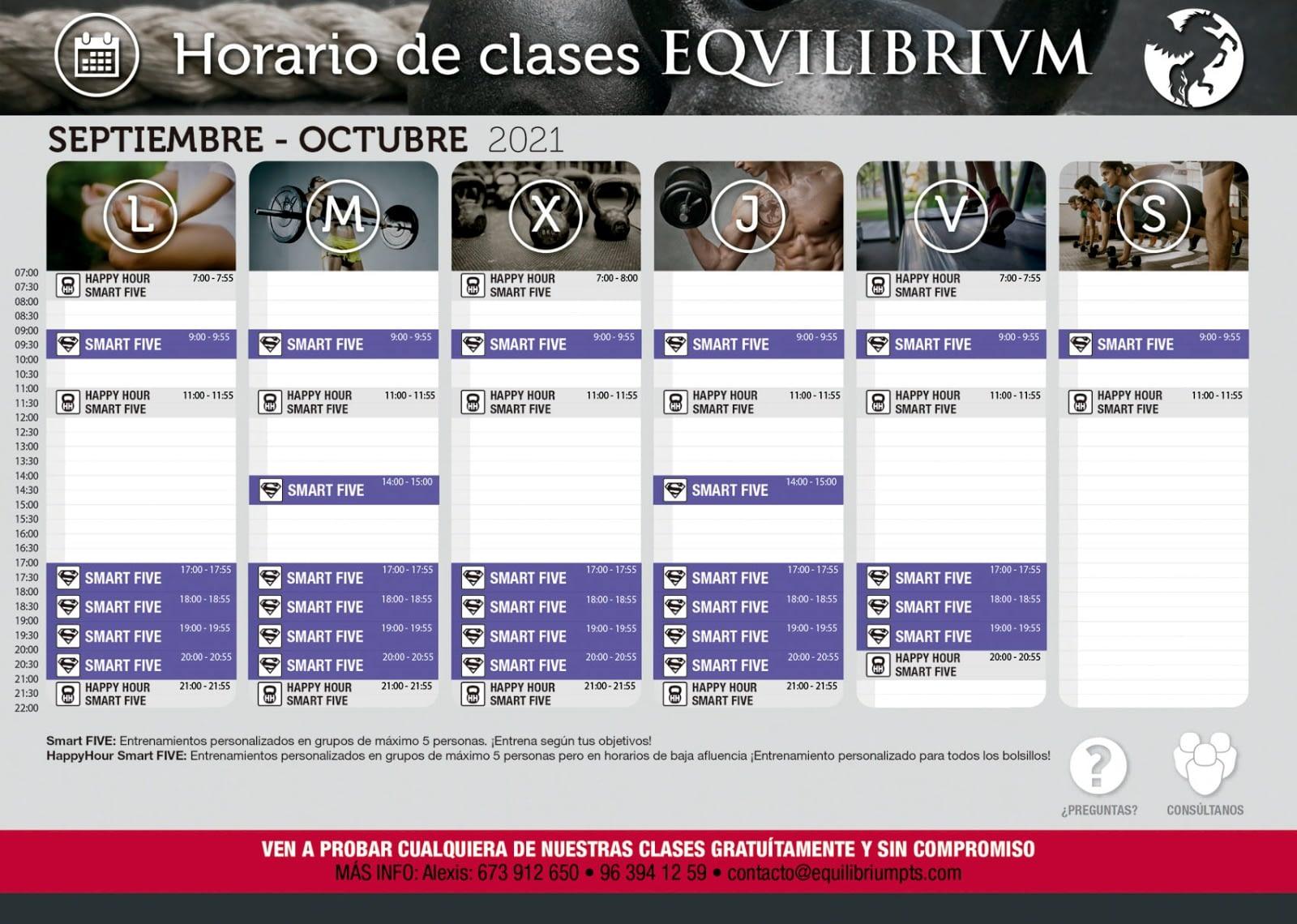 Horario de clases Equilibrium