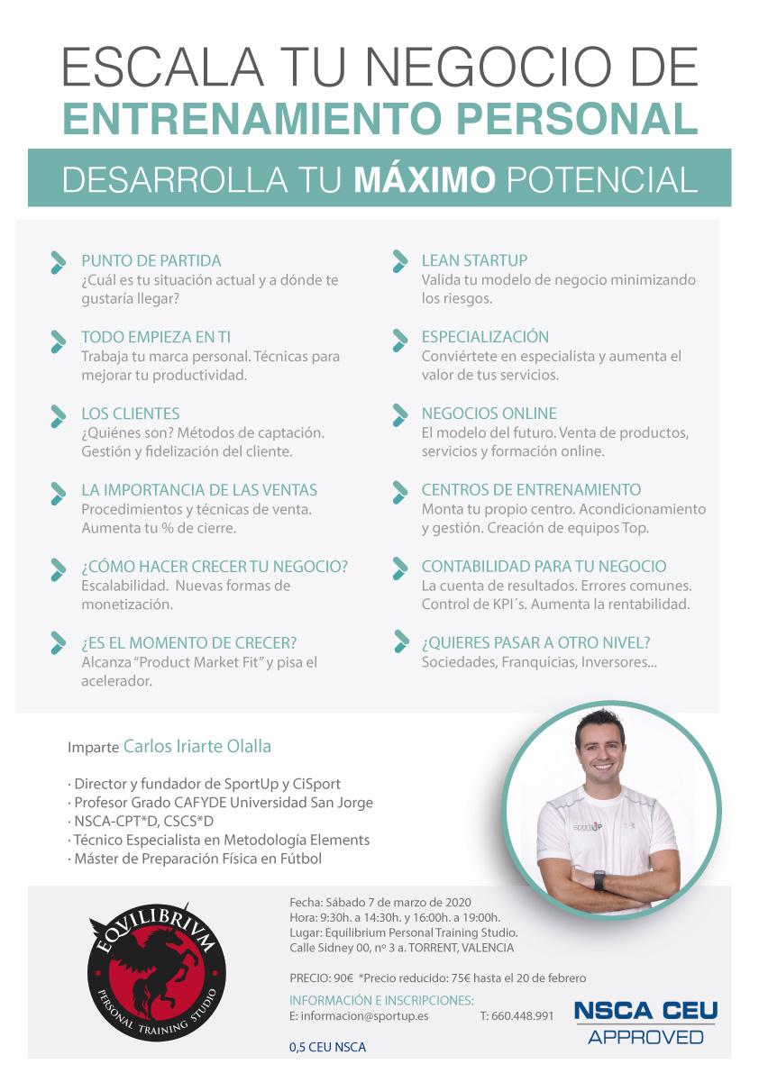 Escala tu negocio de entrenamiento personal con Carlos Iriarte Olalla de Equilibrium