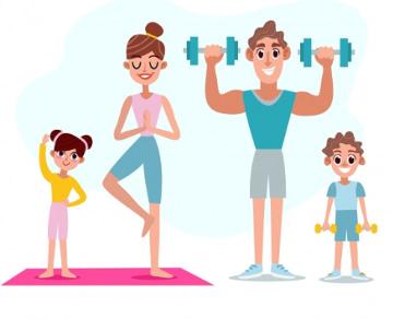 actividad física con la familia